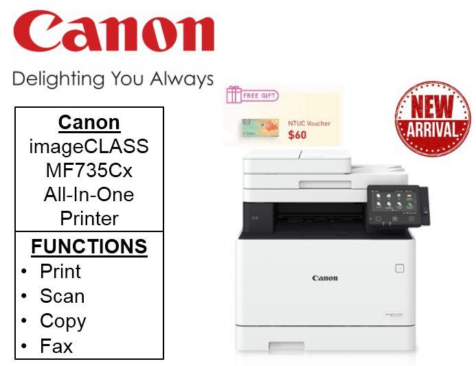 Canon imageCLASS MF735Cx ** Free $60 NTUC Voucher Till 24th Feb 2019 **  feature rich 4-in-1 Colour Multifunction printer with Double sided copy mf