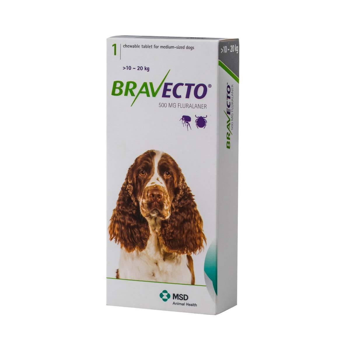 Bravecto Chew Tablet For Medium Dogs 10-20kg.