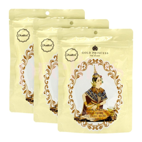 Buy 3 Pack Original Thailand Gold Princess Royal Ginger Foot Patch (15 Pair) Singapore