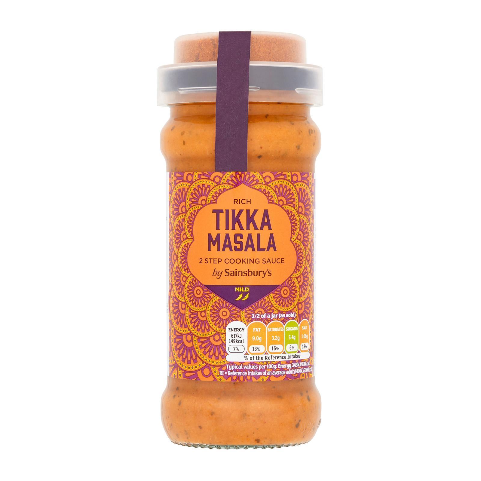 Sainsbury's Rich Tikka Masala 2 Step Cooking Sauce