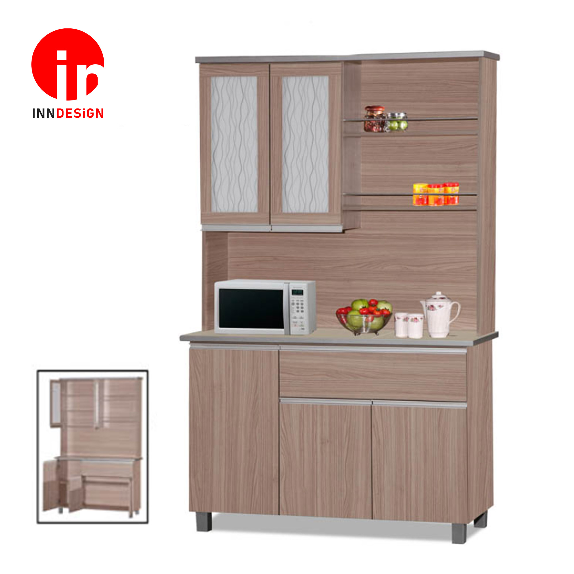 KINNO 4ft Kitchen Cabinet With Tiles Top and Drawer (Free Delivery and Installation)