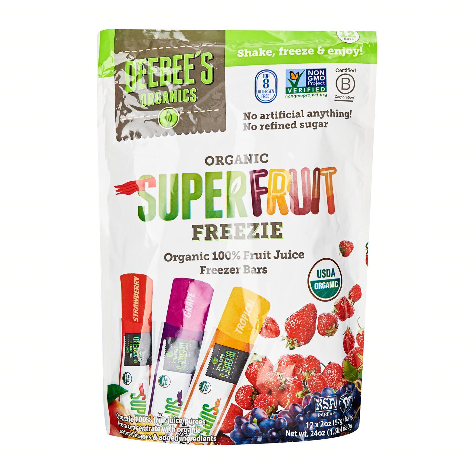 Deebee's Organic Super Fruit Freezies - By Wholesome Harvest