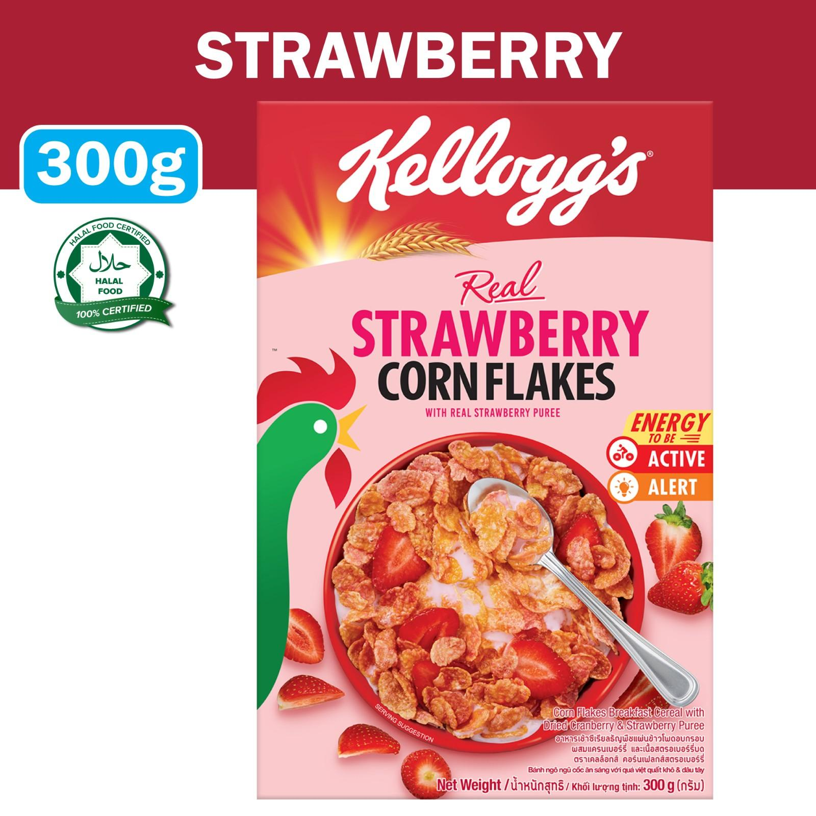 Kellogg's Strawberry Corn Flakes Breakfast Cereal