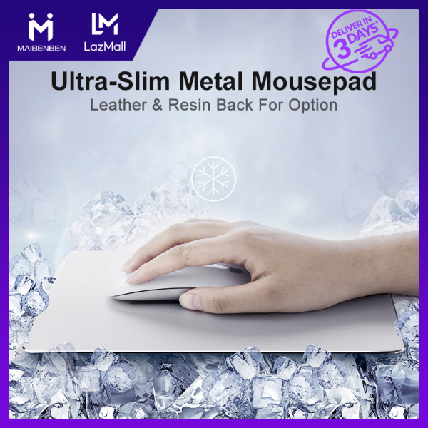 [Local Warranty] Maibenben Basic Mousepads Ultra-Slim Aluminum Alloy Mouse Pad Computer Accessories Non Slip Metal Surface Leather Resin Bottom Large Size Free Shipping MP01