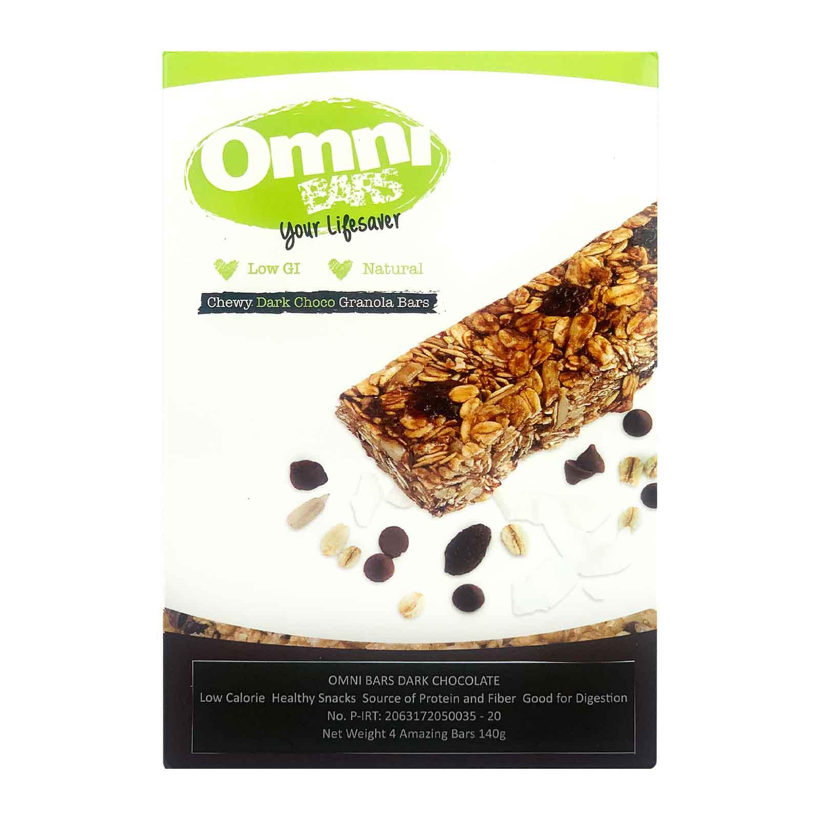 Omni Chewy Dark Choco Muesli Bars