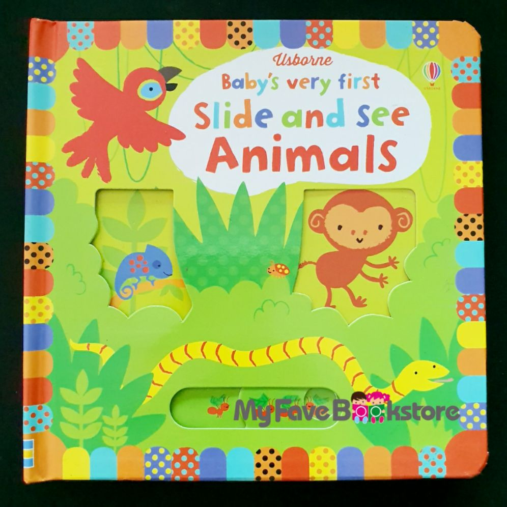 [SG Stock] Usborne Babys Very First Slide and See Animals Book