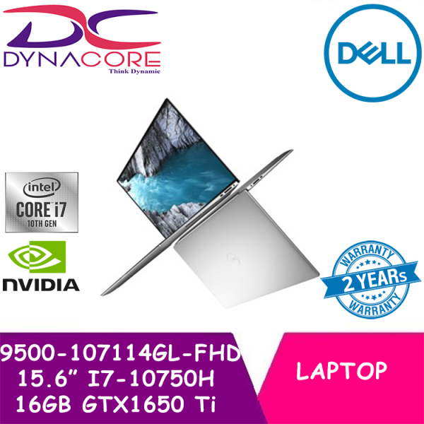 【DELIVERY IN 24 HOURS】 DYNACORE - DELL XPS 15 9500 | 9500-107114GL FHD 15.6 INTEL CORE I7-10750H | 16GB | 1TB SSD | GTX1650 Ti 4GB Graphics | WIN 10