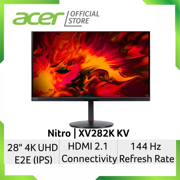 [NEW 4K GAMING MONITOR WITH HDMI 2.1] Acer Nitro XV282K KV 28-Inch 4K UHD E2E (IPS) Gaming Monitor with LATEST HDMI 2.1 Connectivity and 144Hz Refresh Rate