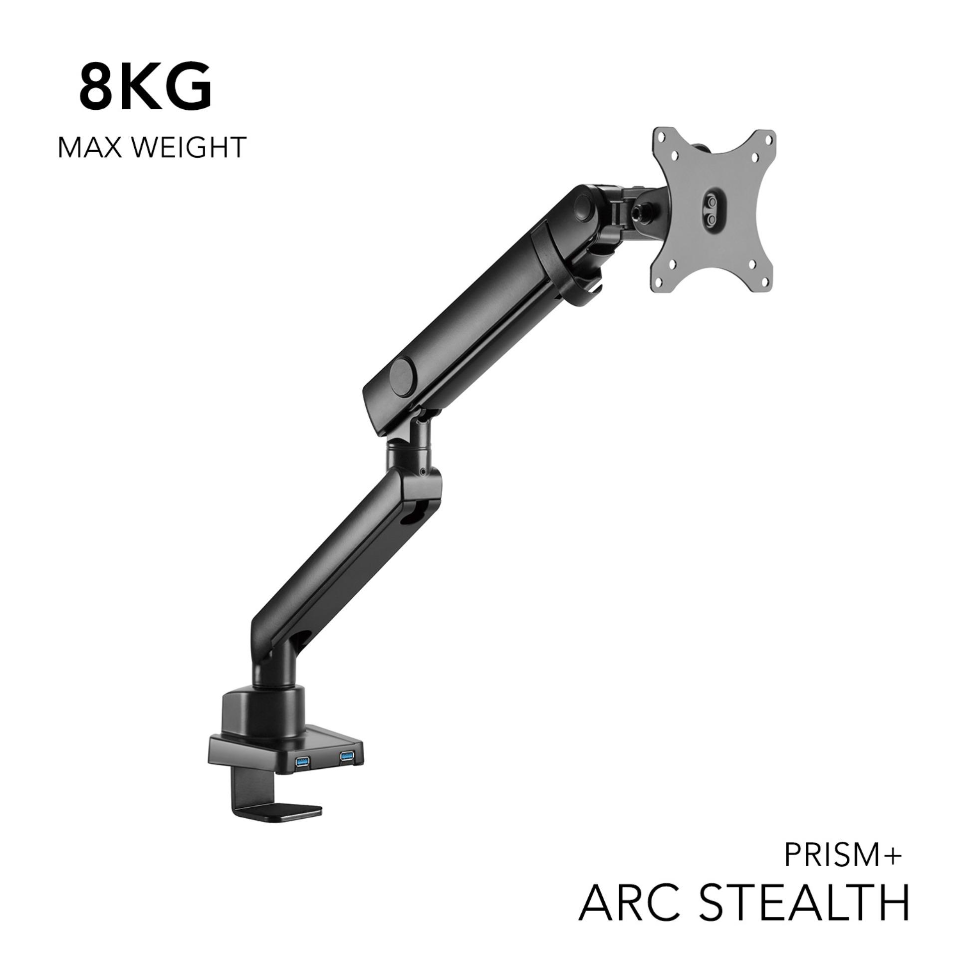 PRISM+ ARC Stealth Single Monitor VESA Monitor Arm