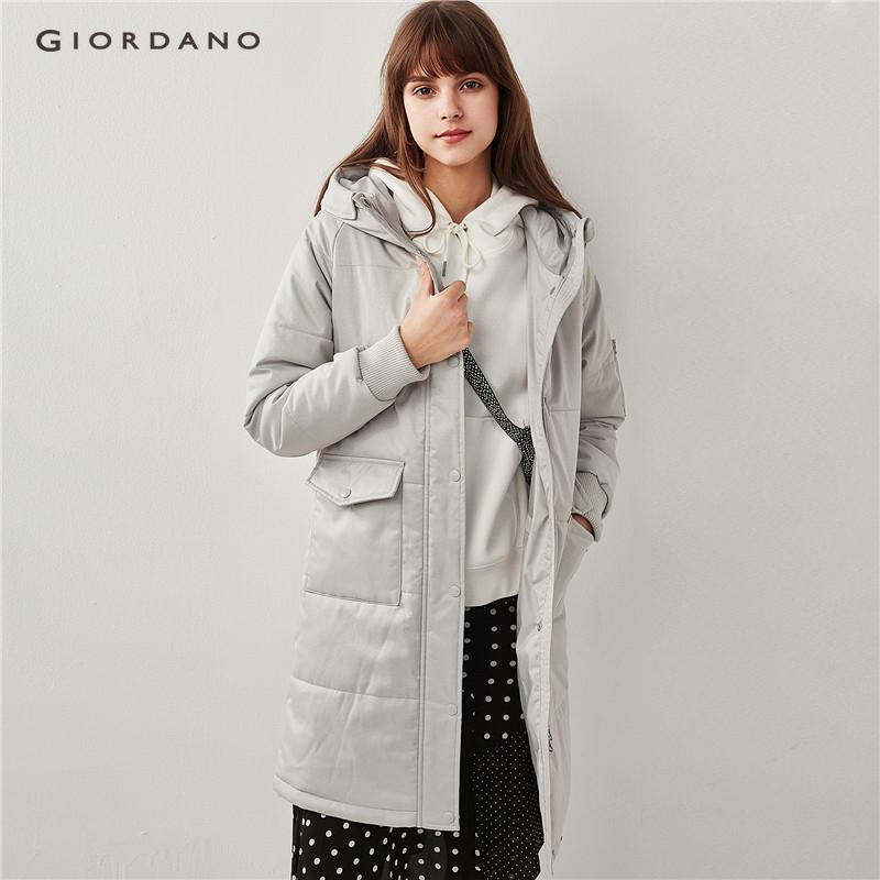 Giordano Women Hooded Multi-Pocket Long Quilted Jacket [free Shipping] 91378743 By Giordano Official.