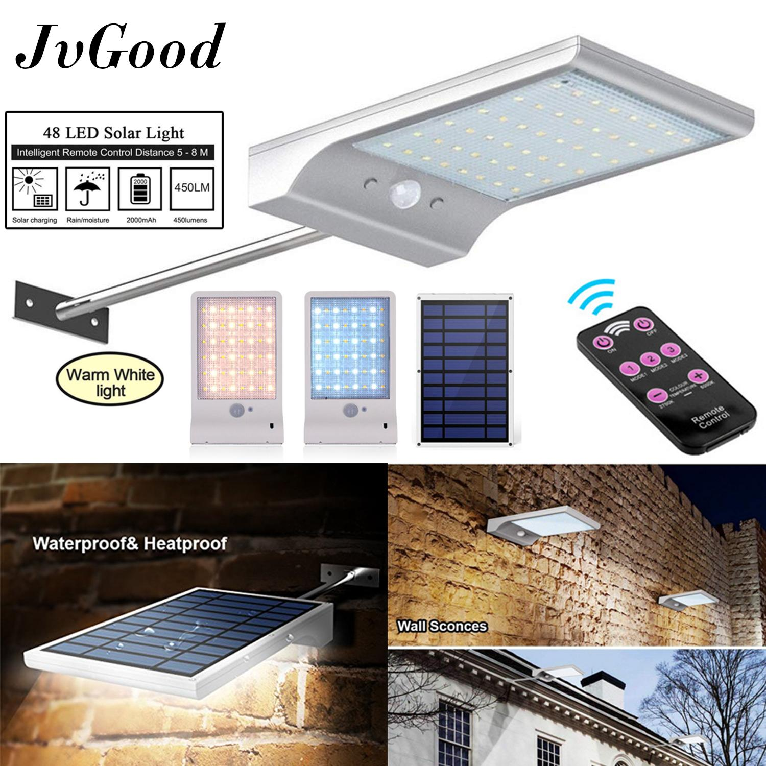 Outdoor Lighting For Sale Lights Prices Brands Review Simple Clap Operated Stairway Light Switch Circuit Homemade Jvgood Upgraded 48 Led Solar Waterproof Motion Sensor Mounting Pole Garden