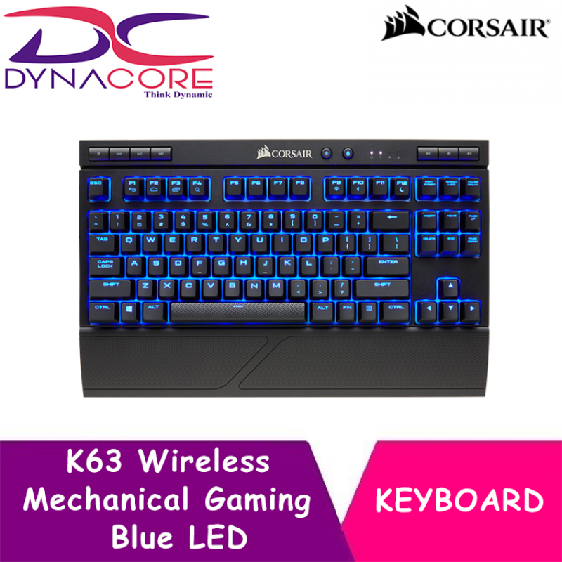 DYNACORE - CORSAIR K63 Wireless Mechanical Gaming Keyboard — Blue LED — Cherry MX Red Singapore