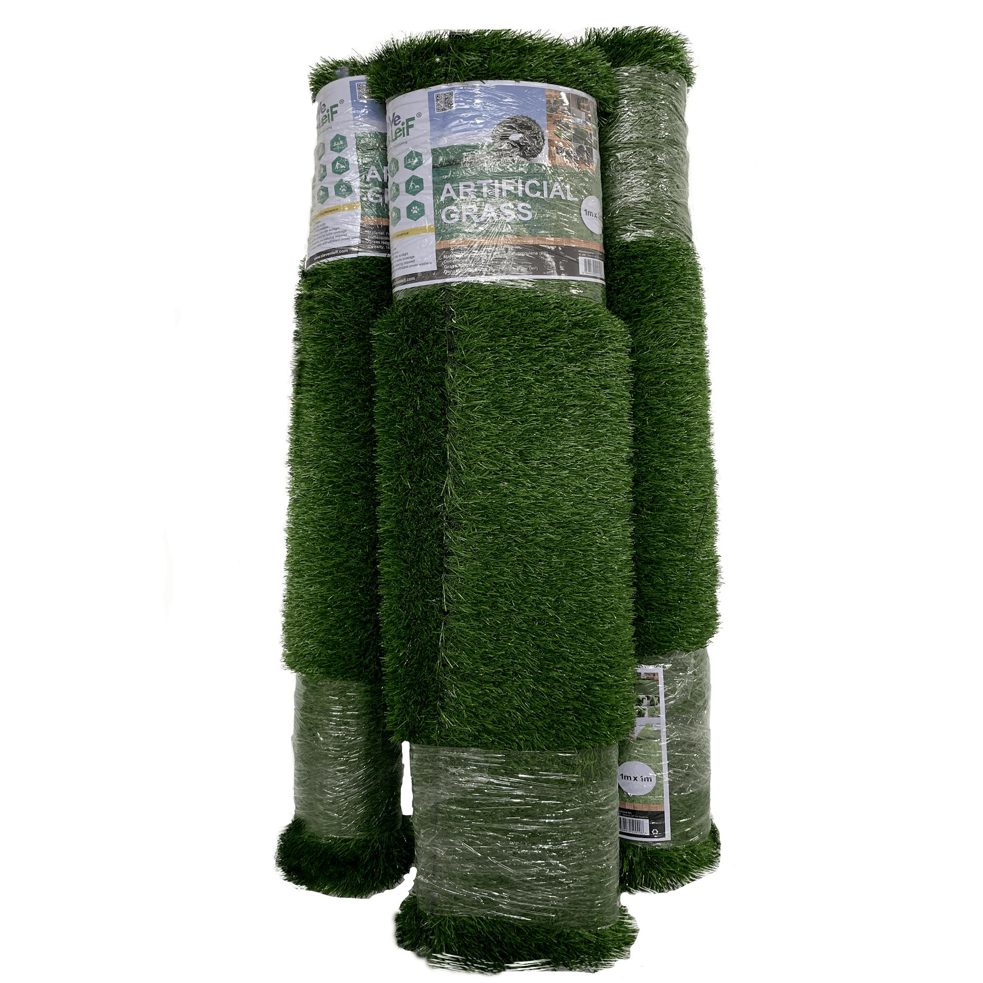 Steve & Leif Indoor / Outdoor Green Artificial Grass Turf (1m x 1m)