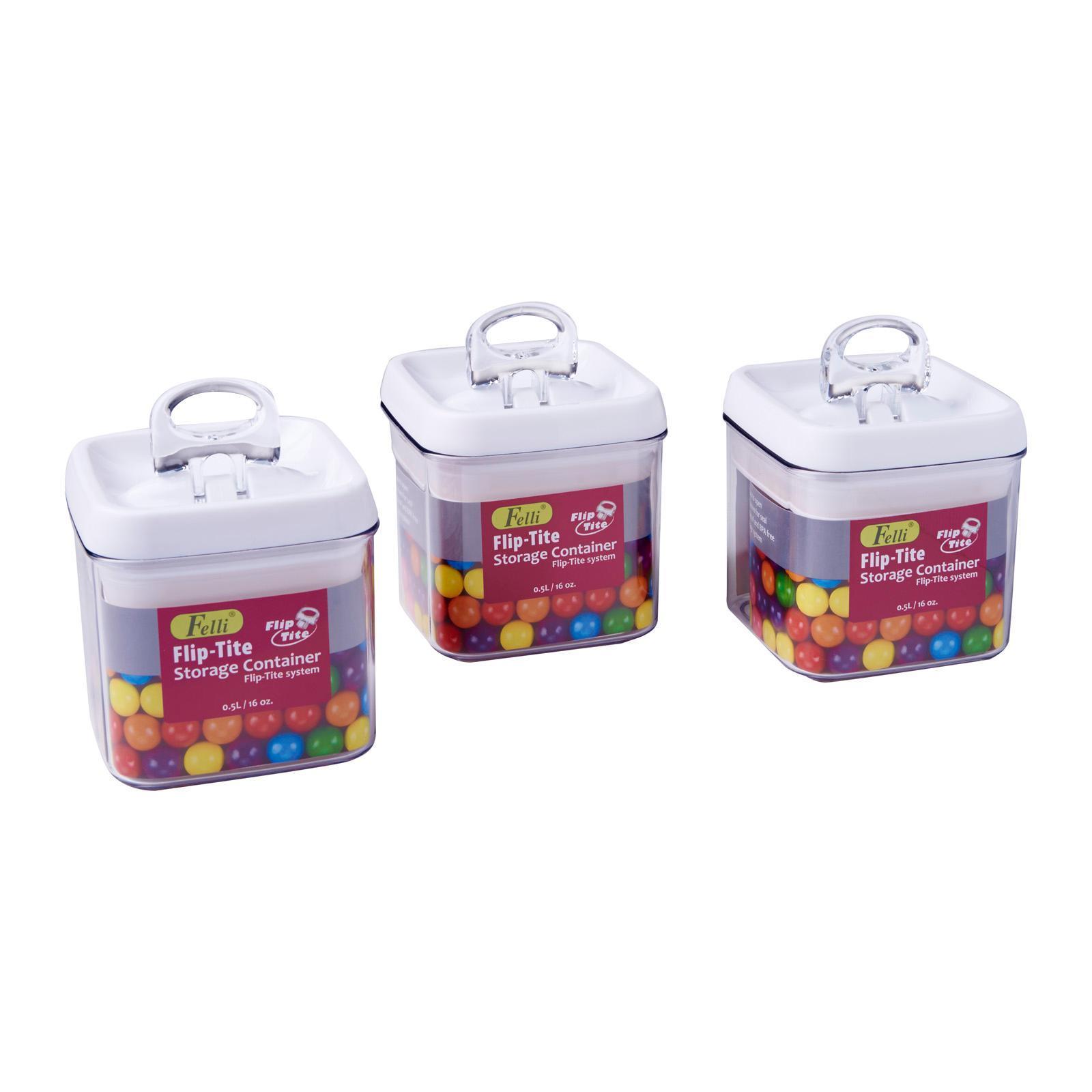 Felli Flip Tite Container 3Pcs Set (0.5L)