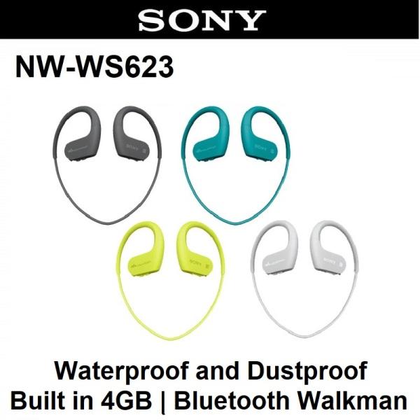 Sony NW-WS623 WS623 Bluetooth Waterproof and Dustproof Walkman Headphones Earphone Music Player 4GB Singapore