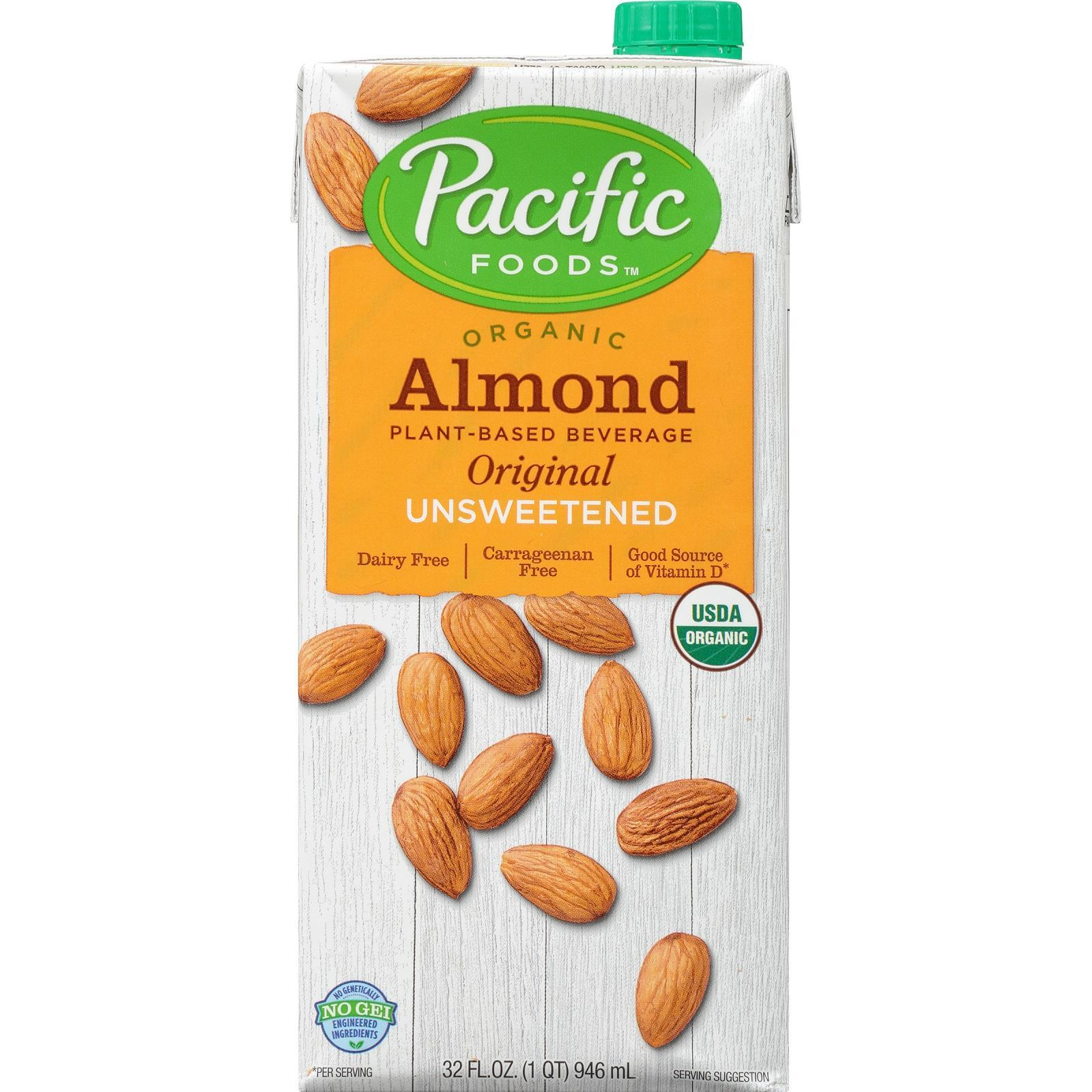 Pacific Organic Unsweetened Low-Fat Almond Non-Dairy Beverage