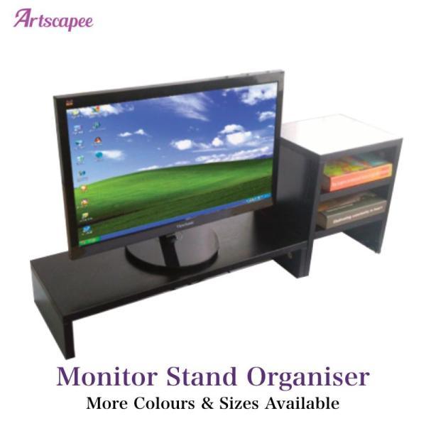 Monitor Stand Desktop Organiser Black
