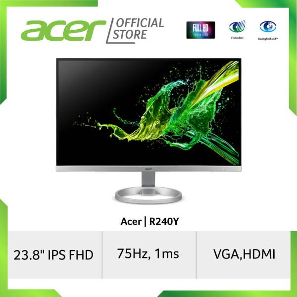 [NEW STOCKS ARRIVED] Acer R240Y 23.8 Inches IPS FHD Resolution monitor with 1 MS Response Time