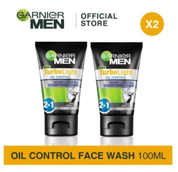 Buy [Bundle of 2s] Garnier Men Turbo Light Oil Control Shaving & Cleansing Brightening Foam 100ml Singapore
