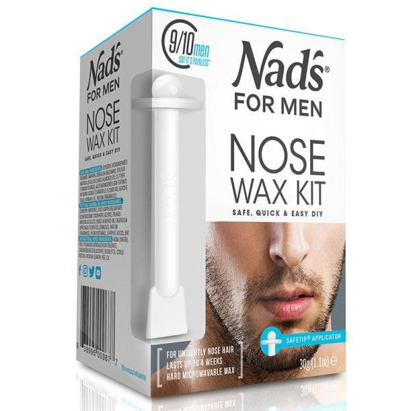 Buy Nads for Men Nose Wax 30g - Australia Made, 100% Authentic - The complete DIY nose wax kit for men - Allows you to easily and effectively remove unsightly and embarrassing nose hair - Used to smooth the nose surface Singapore
