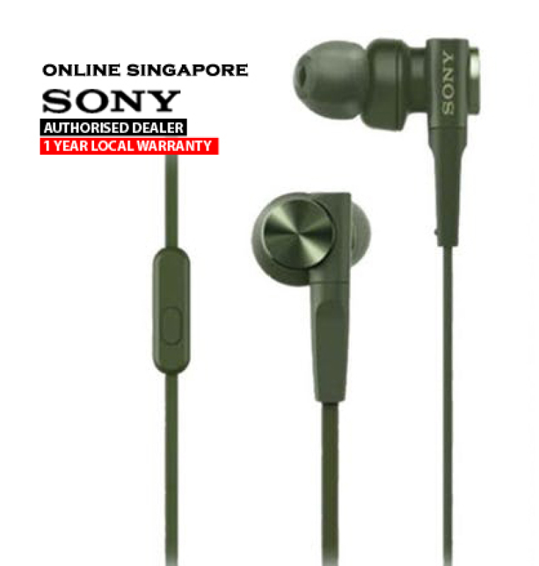 Online Singapore - Sony MDR-XB55AP EXTRA BASS In-Ear Headphones with Microphone Singapore