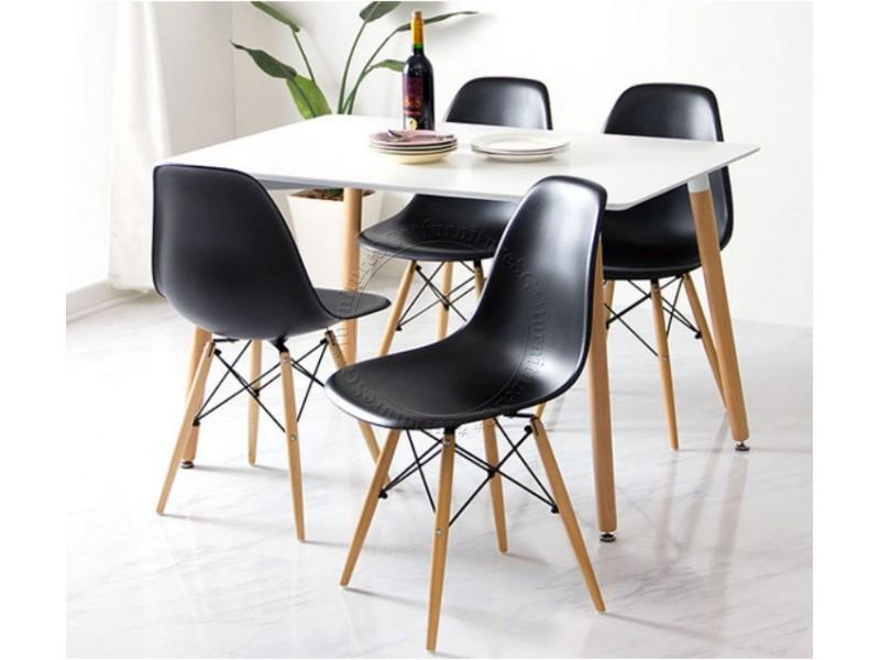 (FurnitureSG) Modern 1+4 Dining Set [Free Delivery and Installation]