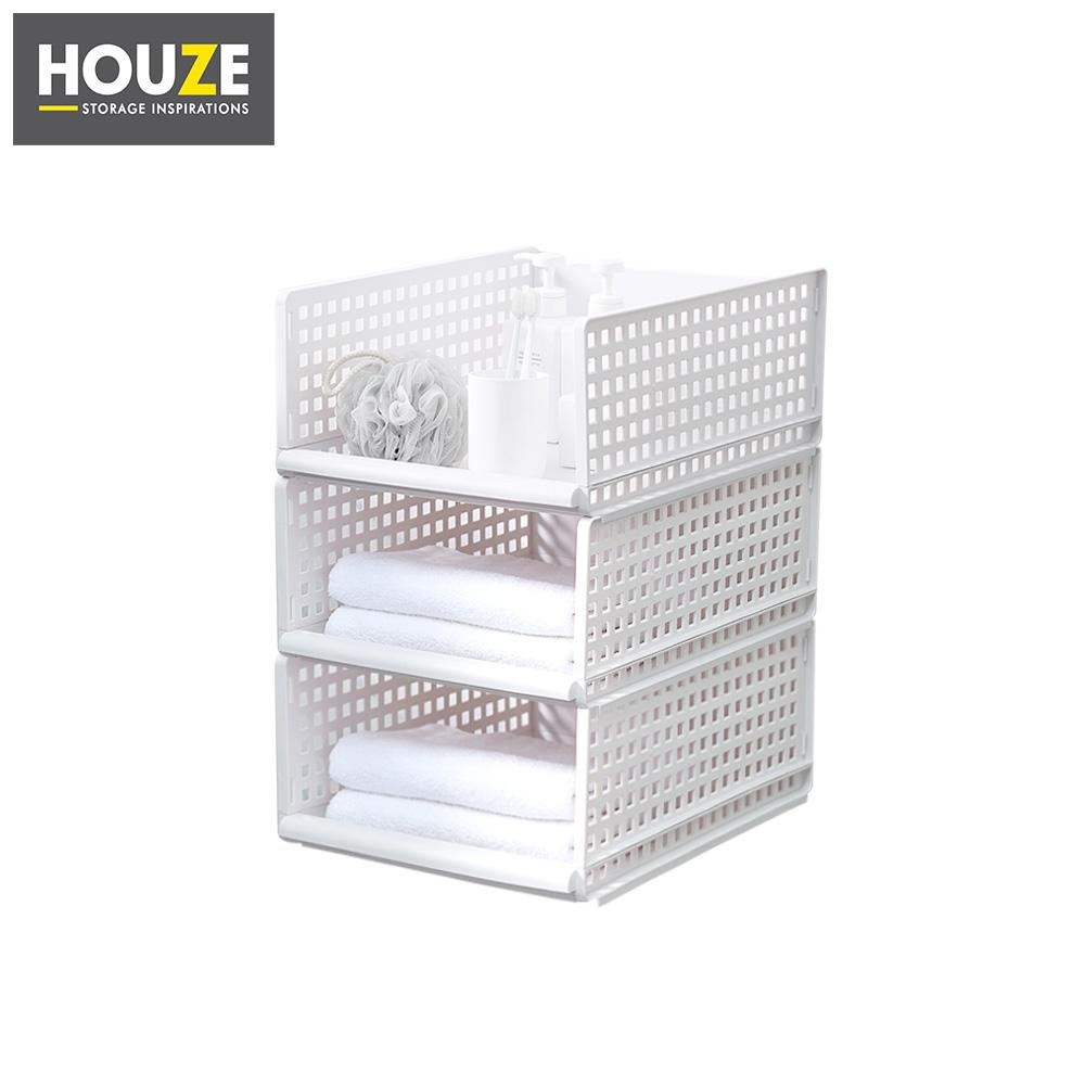 HOUZE - Modular Retractable Drawer Shelf (Height: 18cm) [Set of 3]