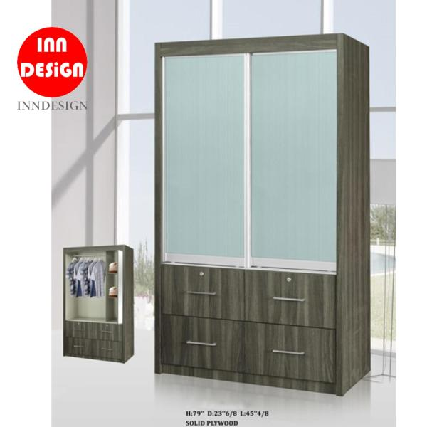 Hester Solid Plywood Sliding Wardrobe (Free Delivery and Installation)