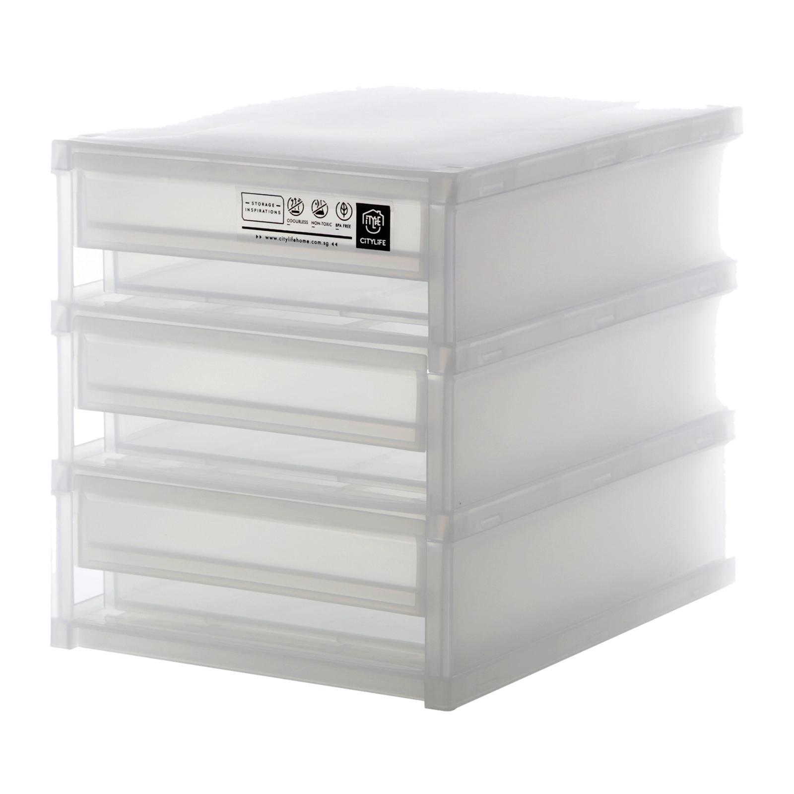 CITYLIFE Frost Mini 3 Tier Cabinet (Small)