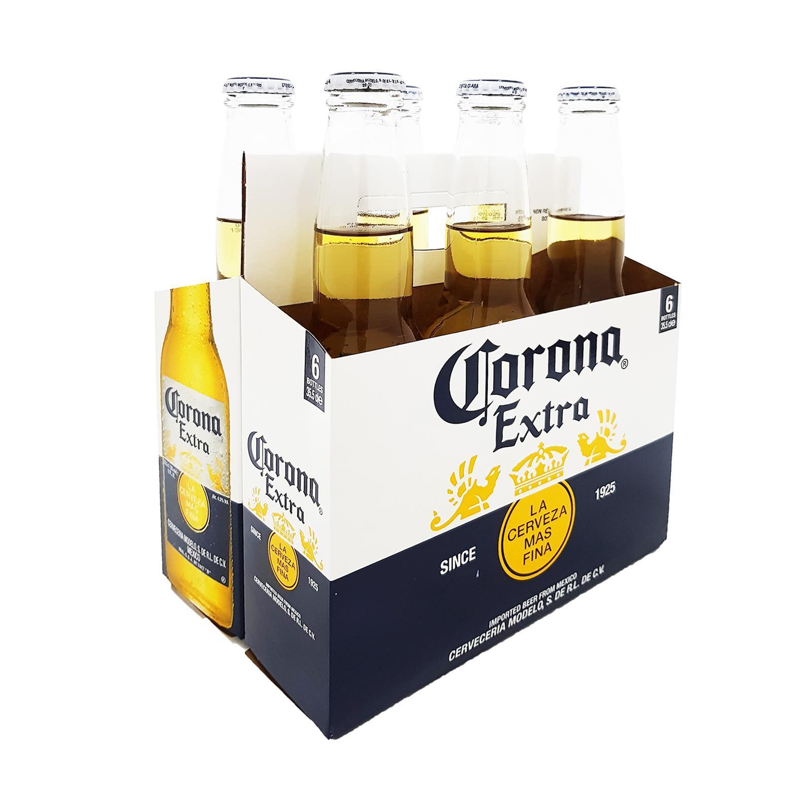 CORONA Extra Beer Bottles 6sX355ml