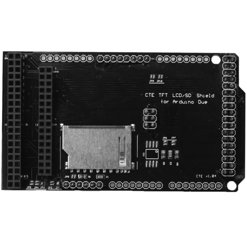 3.2 Inch Tft Sd Shield Expansion Board Module For Arduino Due Lcd Module Sd Card Adapter.