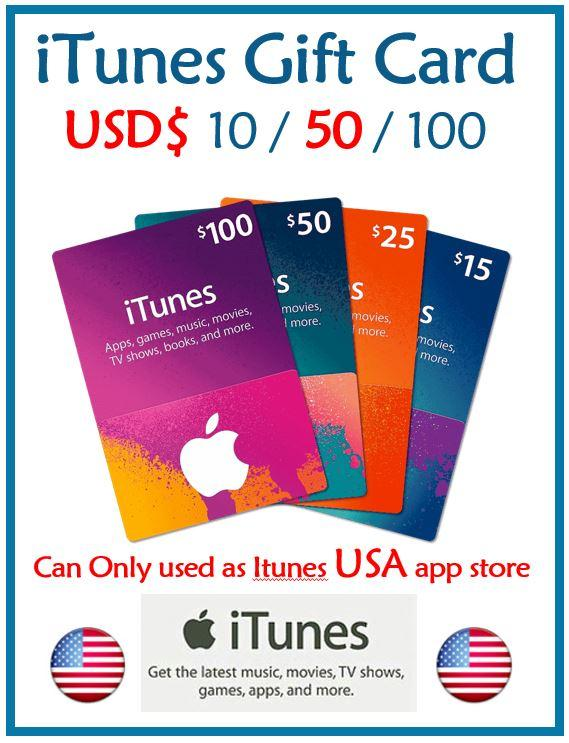 iTunes USD 50 Gift Cards (50USD)