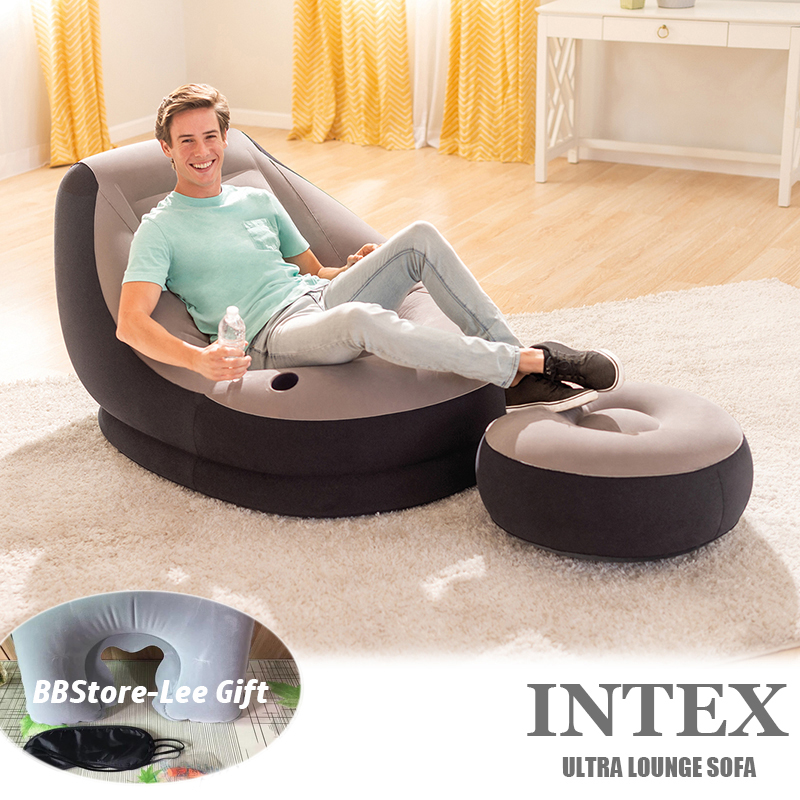 INTEX ULTRA LOUNGE SOFA*Inflatable SOFA*INFLATABLE SINGLE SOFA*3in1 pillowset FREE*Pump to choose