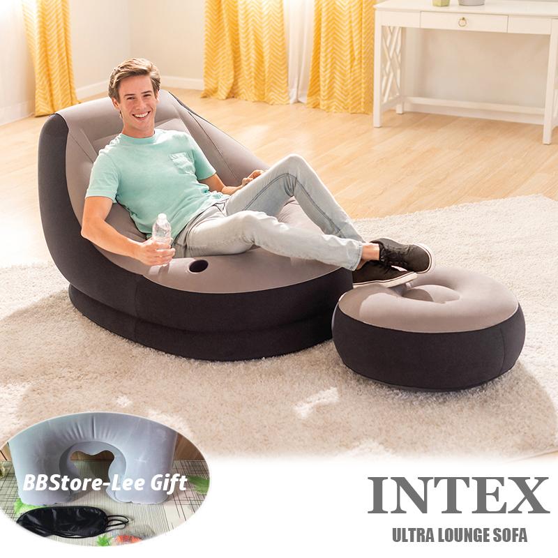 INTEX ULTRA LOUNGE SOFA*Inflatable SOFA*INFLATABLE SINGLE SOFA*3in1 pillowset FREE*Pump to choose