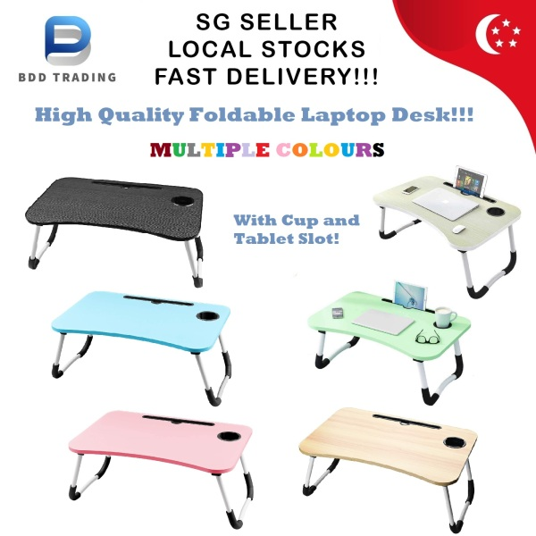 CHEAPEST!!! High Quality Multi-purpose Foldable Table Portable Laptop Desk PC Bed Laptop Table Bed Table Lazy Table