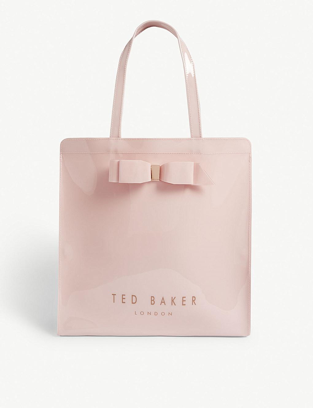 ATED418 Ted Baker Soft Touch 192 Lined Page Debossed Bow A5 Notebook Black