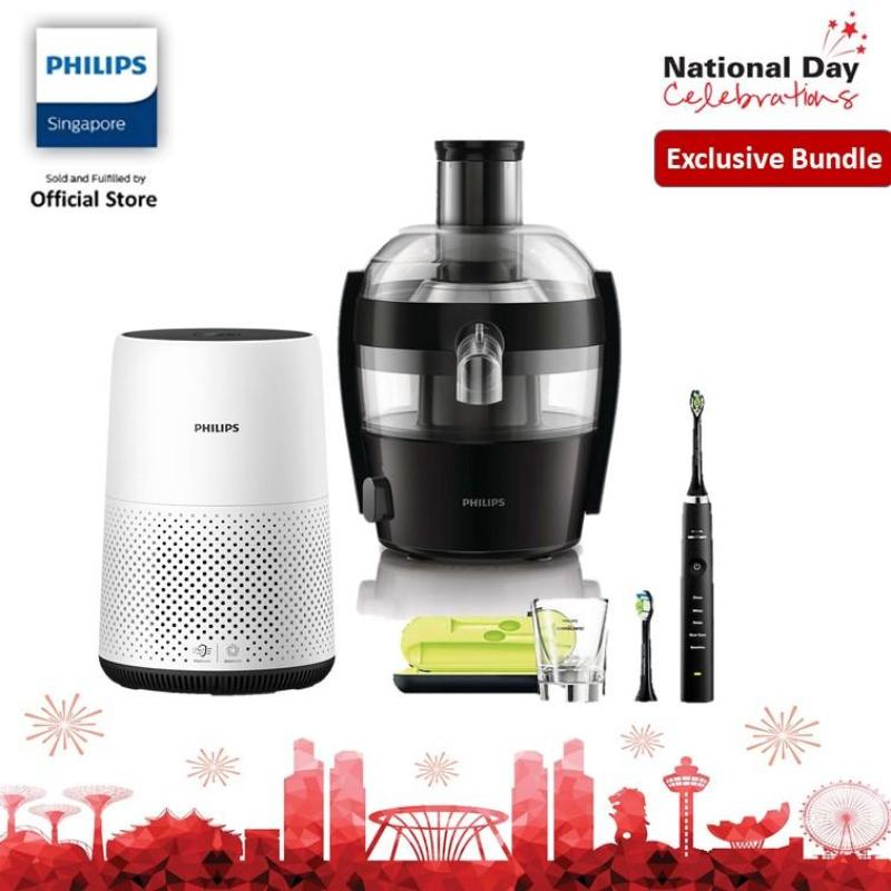 [EXCLUSIVE BUNDLE] Philips Air Purifier AC0820/30, Diamond Clean Toothbrush HX9352 With fruit Juicer  HR1832/00 Singapore
