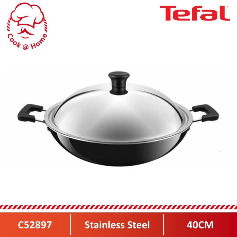 Tefal Asian Chinese Wok 40cm w/Lid C52897 Singapore