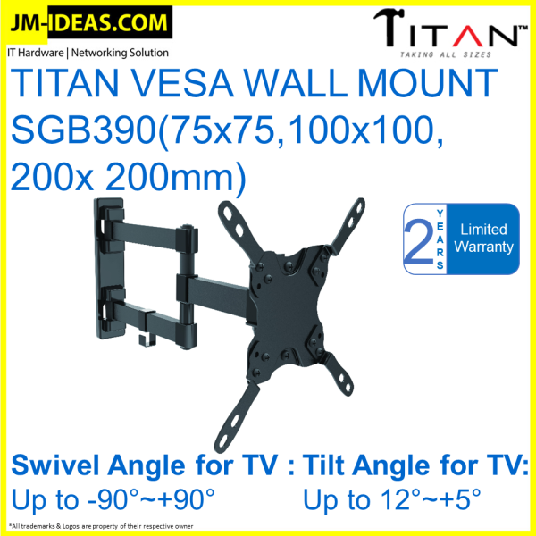 [ Ready Stocks ] TITAN VESA WALL MOUNT SGB390(75x75,100x100, 200x 200mm)
