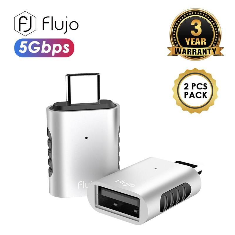 Flujo AH-62 Silver AH-62 USB C to USB3.0 Silver (2 PCs Packaging) PassionHome.sg Passion Home