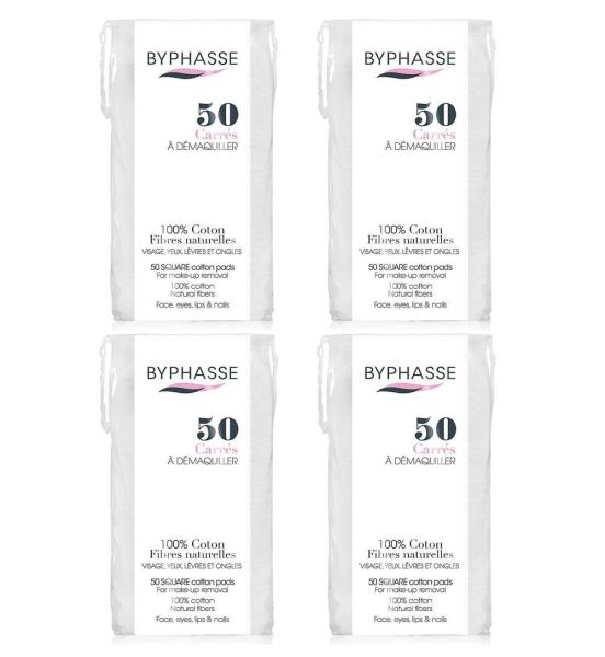 Buy (BUNDLE OF 4) BYPHASSE SQUARE COTTON PADS 50S Singapore