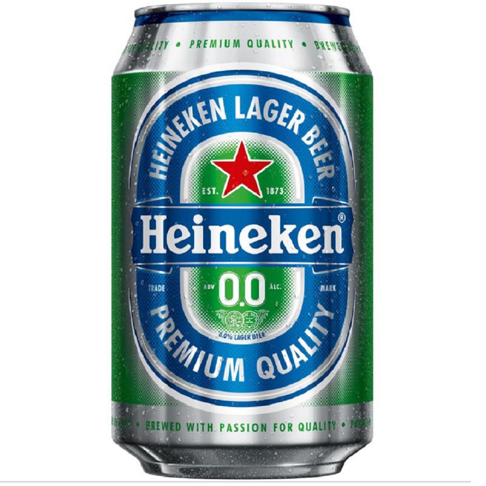 Heineken 0.0% Zero Alcohol Beer Can