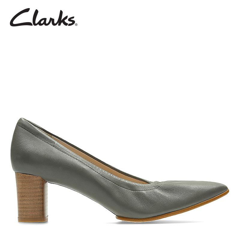 Clarks Grace Isabella Dark Grey Lea Womens Dress Shoes Clarks Collection By Clarks Official Store.