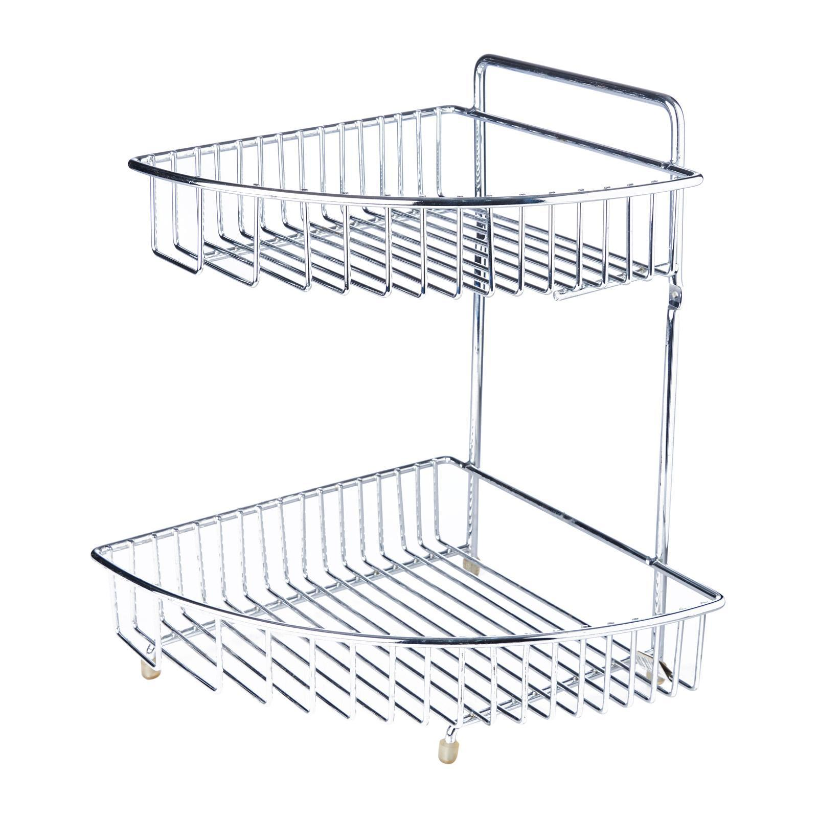 Vesta Chrome 2-Tier Corner Rack L28 W27 H36Cm