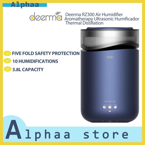 Deerma RZ300 Air Humidifier Aromatherapy Ultrasonic Humificador Thermal Distillation, Blue Singapore