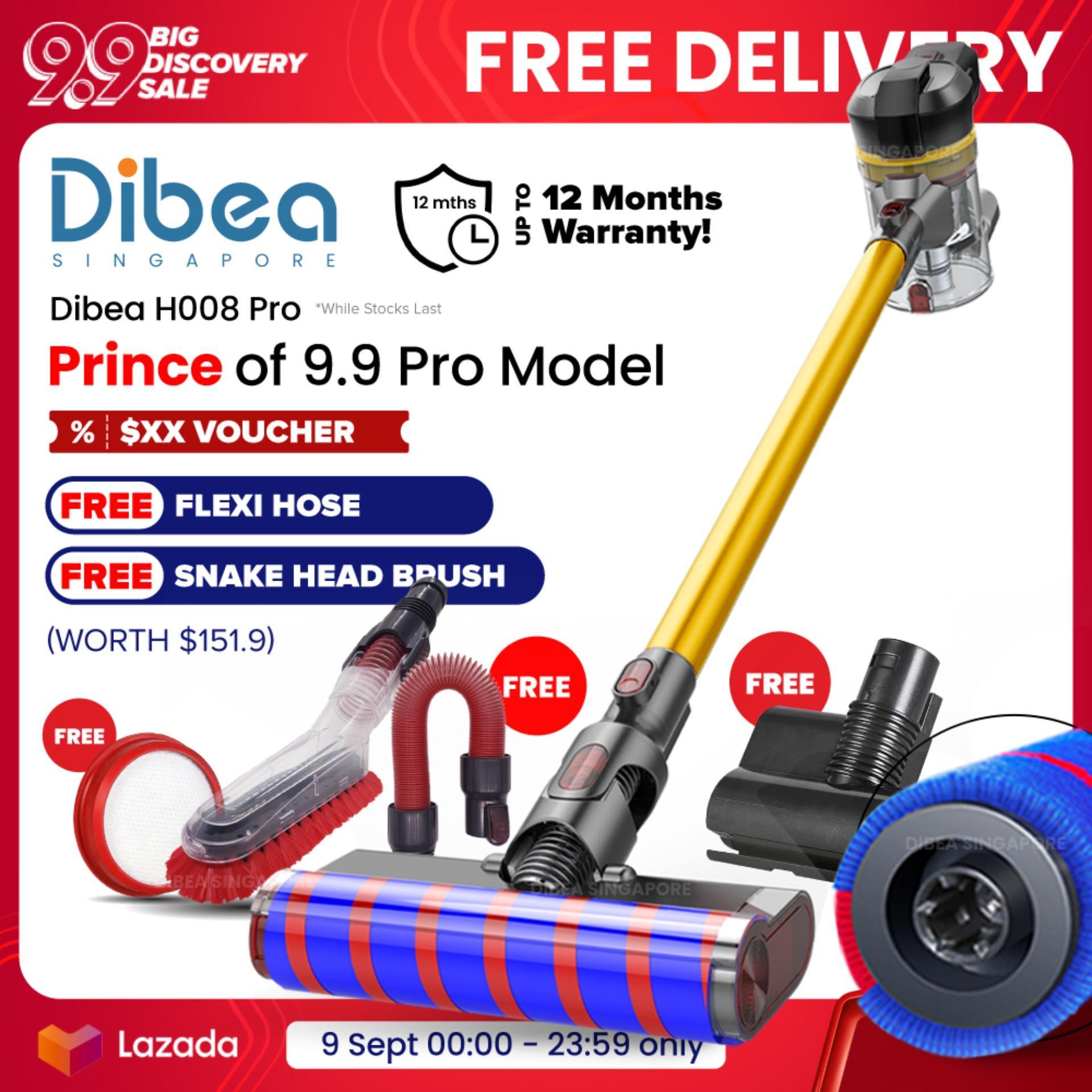 [ 9 9 Dibea Singapore] Dibea H008 Pro Cordless Vacuum Cleaner Handheld  Stick Large Capacity Household Appliances With Vacuum Cleaner Brush Safety  Mark