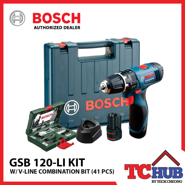 Bosch GSB 120-LI + 41 Piece Combination Set