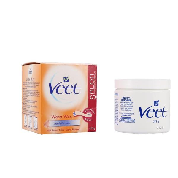 Buy Veet Warm Wax Hair Removal 375g Feb 2023 - Australia Made, 100% Authentic - Quick, easy way of removing unwanted hair - Water Rinsable - Salon Professional Results - Shape adapted to different body parts - With Precision Spatula - Long lasting results Singapore