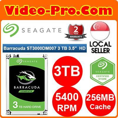 Seagate ST3000DM007 3TB BarraCuda 3 5inch SATA3 Hard Disk Drive 5400rpm  256MB Cache 2 Year Warranty