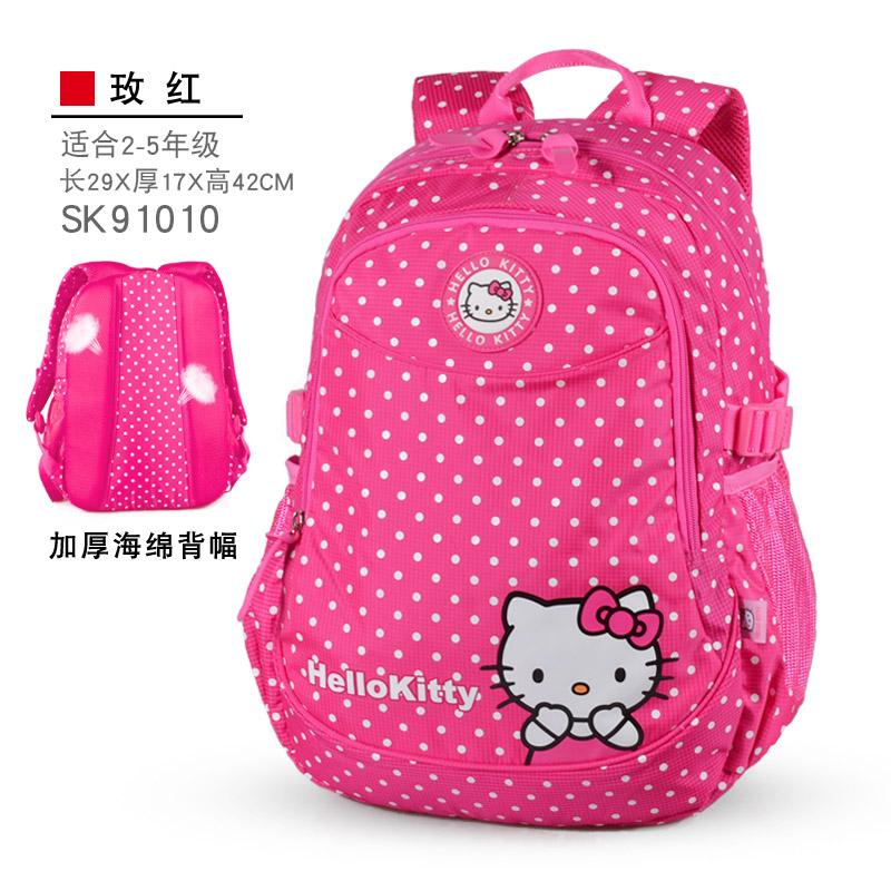 Hello kitty Schoolbag for Elementary School Students Girls 1-3-5 Grade Hello  Kitty d6e2d883a9b7d
